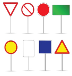 blank traffic sign set two vector image vector image