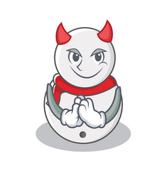 devil snowman character cartoon style vector image vector image