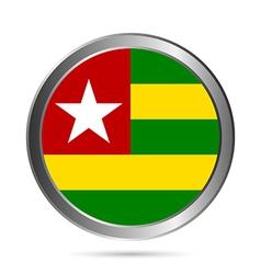 Togo flag button vector image