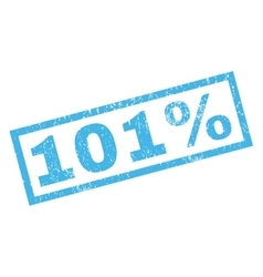 101 Percent Rubber Stamp vector image