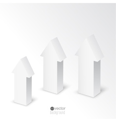 3d arrows on white background vector image