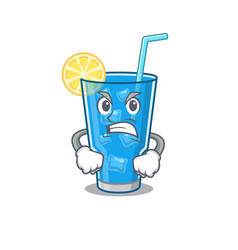 A cartoon picture blue lagoon cocktail showing vector