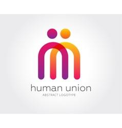 Abstract human logo template for branding vector image
