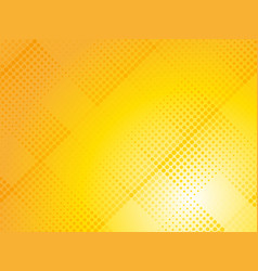 abstract yellow halftone dotted background vector image
