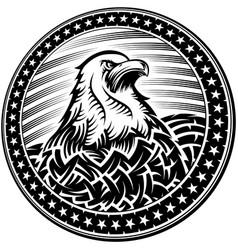 American bald eagle usa natioal symbol vector