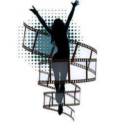 banner girl vector image