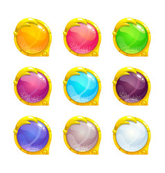 beautiful colorful round buttons vector image