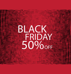 black friday black dots on red background vector image