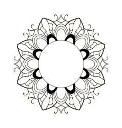 black round frame vector image