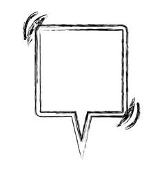 Blurred silhouette square shape dialog box vector