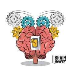Brain power concept icon ilustration vector