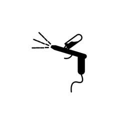 car spray pistolet icon vector image