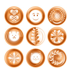 coffee foam drawing or picture energetic drink vector image