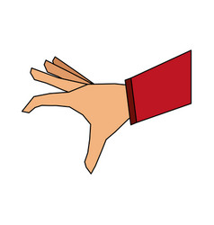 Color image cartoon hand about to catch something vector