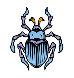 colorful bug tattoo concept vector image