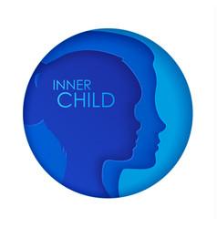 Concept inner child vector