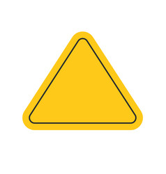 Danger or caution risk triangle road sign yellow vector