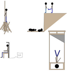 Death penalty different methods of punishment vector