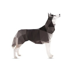 Dog abstract vector