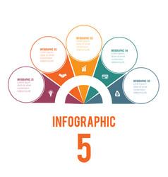 Elements infographics conceptual cyclic vector