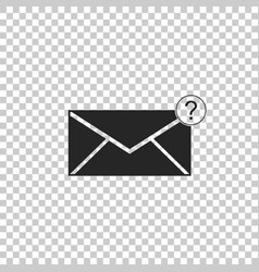 envelope with question mark icon vector image