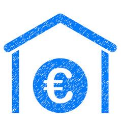 Euro storage garage grunge icon vector