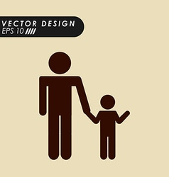 family silhouette design vector image