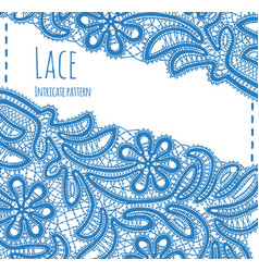 Floral card with lace vector