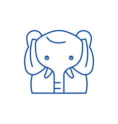 funny elephant line icon concept funny elephant vector image