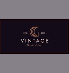 g vintage logo night club vector image