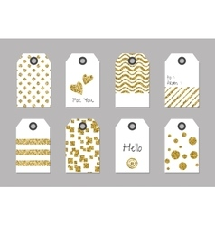 Gift or price tags with glitter texture vector