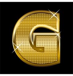 Golden font type letter G vector image vector image