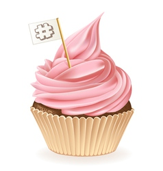 Hash Tag Cupcake vector image