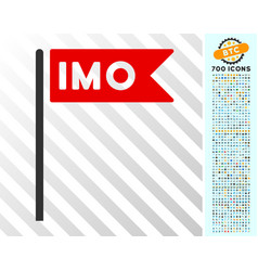 Imo flag flat icon with bonus vector