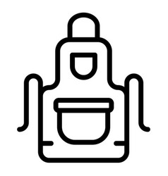 kitchen apron icon outline style vector image