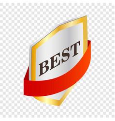 Label best quality isometric icon vector