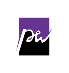 letter pw vector image