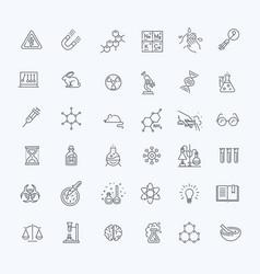 Modern thin line icons set biochemistry vector