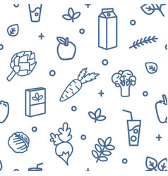 monochrome seamless pattern with vegetables and vector image