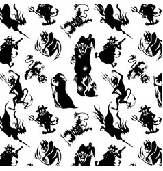 Pattern for halloween vector