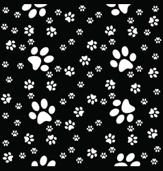 paws black pattern paw background vector image