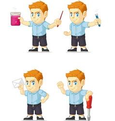 Red Head Boy Customizable Mascot 12 vector