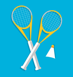 Retro flat badminton icon concept vector