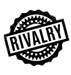 rivalry rubber stamp vector image