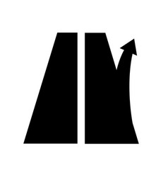 Road sign exit from motorway right arrow vector