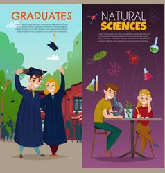 school students cartoon banners vector image
