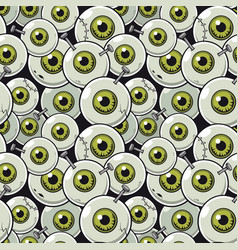 Seamless pattern eyeball vector
