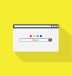 search browser bar in flat style vector image