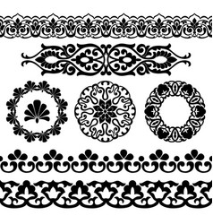 set of asian seamless tapes vector image