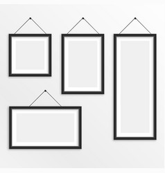 set of different sizes hanging photo frame vector image